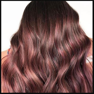 Rose-Gold-For-Dark-Hair-Raspberry-Rose