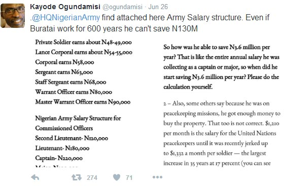 """""""Even if Buratai works for 600 years, his legitimate salary can't afford 130m house in Dubai"""""""