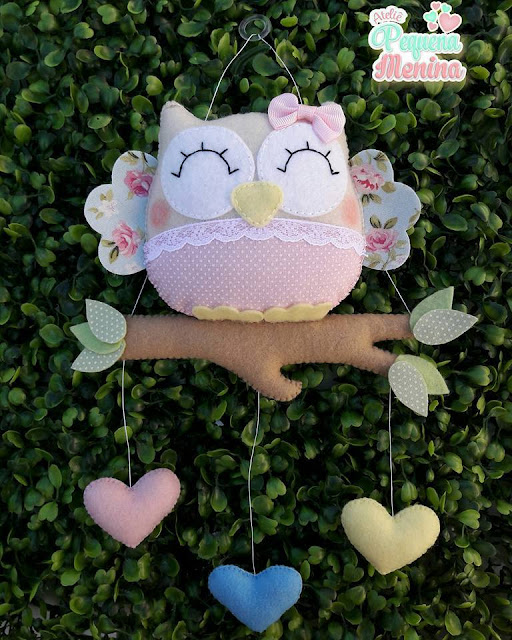 "alt=""Felt Owl Ornament"""