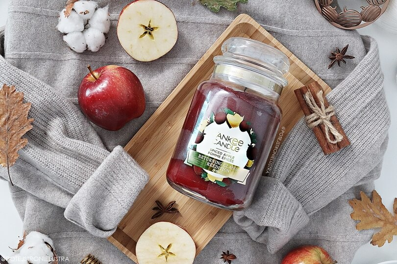 świeca yankee candle spiced apple recenzja na blogu