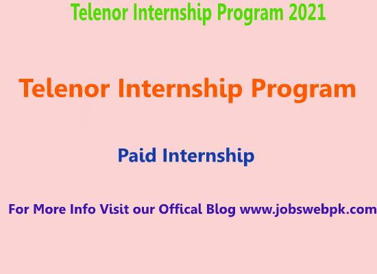 telenor-internship-program-2021-apply-online
