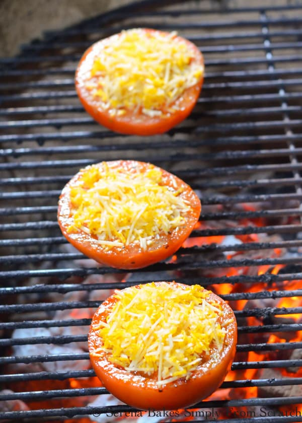 Grill Tomatoes using offset heat.