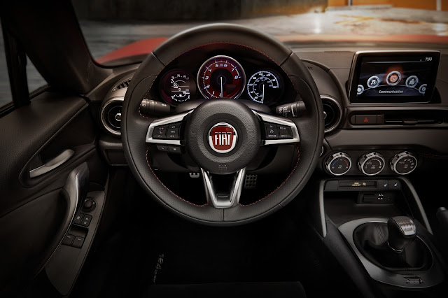 Interior view of 2017 Fiat 124 Spider Abarth