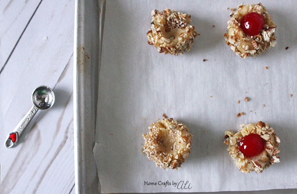 shaping holiday thumbprint cookie