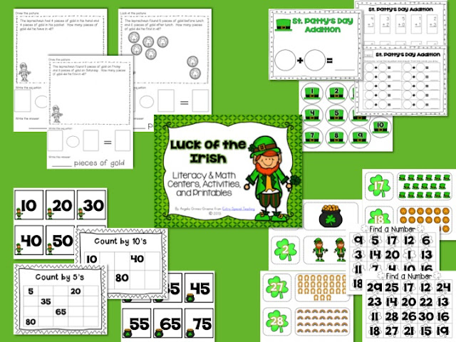 Extra Special Teaching St Patrick S Day Centers Games