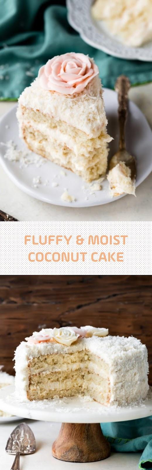 Fluffy & Moist Coconut Cake