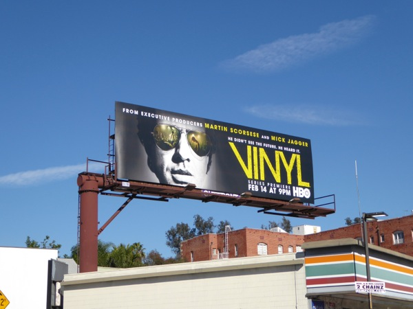 Vinyl series launch billboard