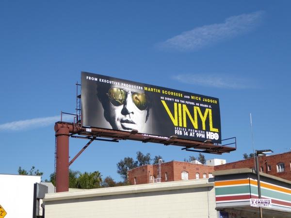 Vinyl series launch billboard