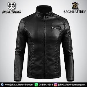 Jual Jaket Kulit Asli Garut Pria Domba Original Brida Leather B35   WA 08813430588
