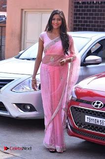 Telugu Actress Shalu Chourasiya Stills in Cute Pink Saree at Pochampally IKAT Art Mela  0006.jpg