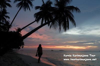 sunset picture karimunjawa island
