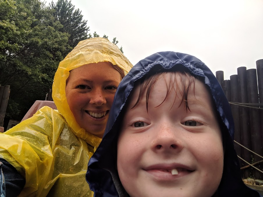 Embracing Water and Rain at LEGOLAND® Windsor Resort  - wearing ponchos on water rides