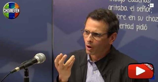 Henrique Capriles e lanzó a las elecciones de Maduro para volver a defraudar al pueblo
