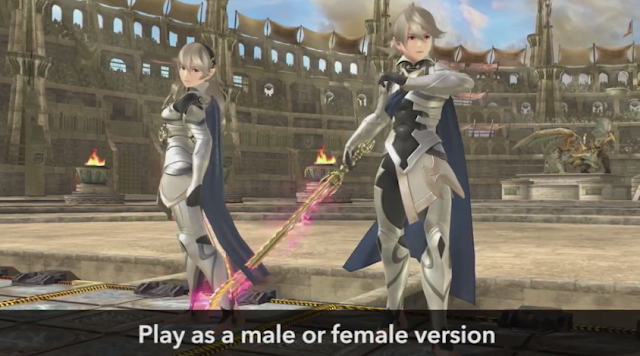 Corrin Super Smash Bros. Fire Embem Fates gender selection