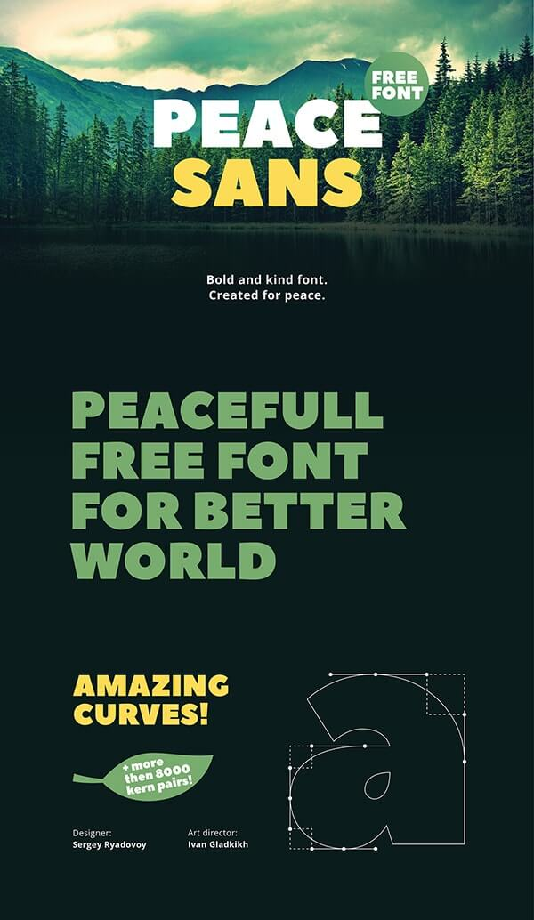 Download Gratis Sans Serif Komersial Font - Peace Sans