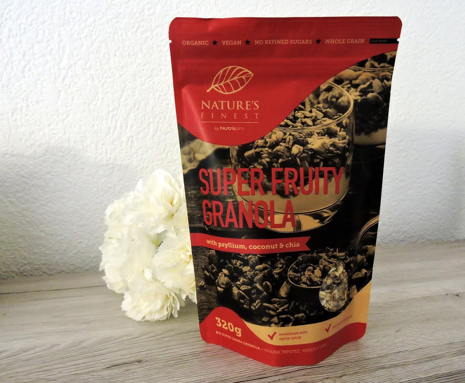Superfruity Granola Nutrisslim biobox février 2019