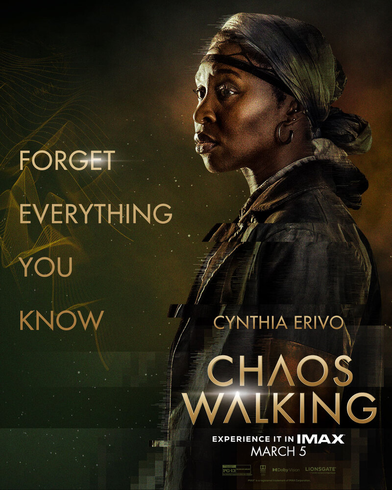 chaos walking poster cynthia erivo