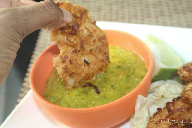 Coconut Shrimp and mango chutney