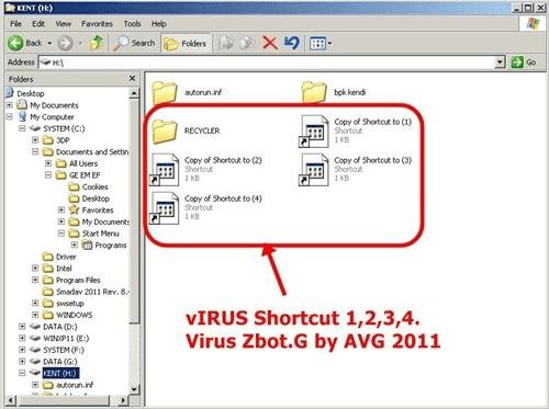 Untuk penggunaan antivirus shortcut, anda dapat menghapus virus tanpa mendownload antivirus terlebih dahulu.