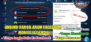 Cara Unbind Paksa Akun Facebook Mobile Legends
