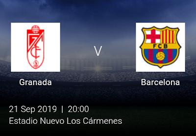 LIVE MATCH: Granada Vs Barcelona Spanish LaLiga 21/09/2019