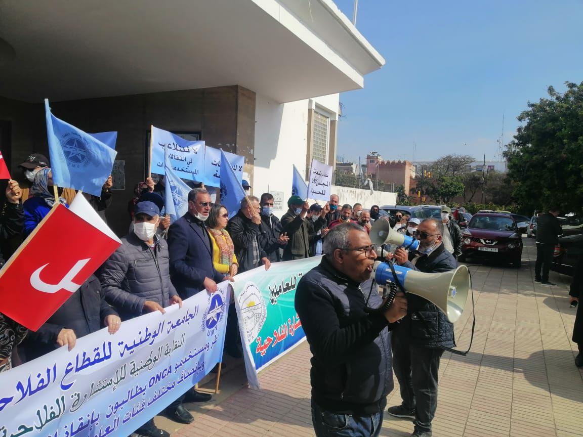 وقفة احتجاجية لنقابة الوطنية للإستشارة الفلاحية
