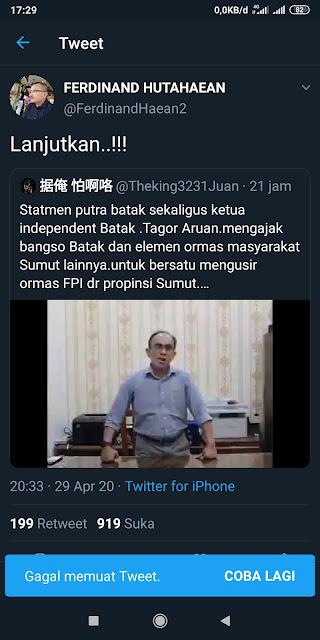 Ikut Provokasi Mengusir Umat Islam, Ferdinand Hutahaean Diajak Tarung Eks Aktivis HMI DKI