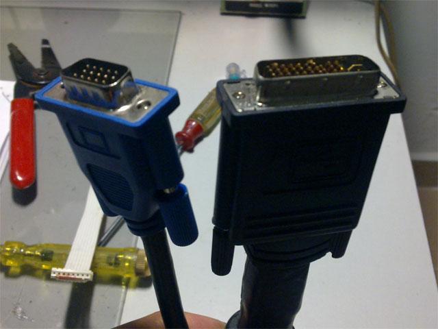 Adding extra vga connector to dell 3400mp projector diy electronics m1 da to vga cable publicscrutiny Gallery