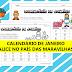 Calendário para trabalhar na educação Infantil