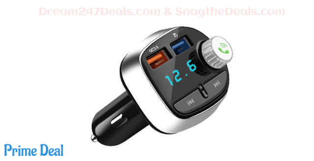Bluetooth 5.0 FM Transmitter for Car  50%OFF