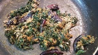 thotakura iguru - amaranth leaves fry