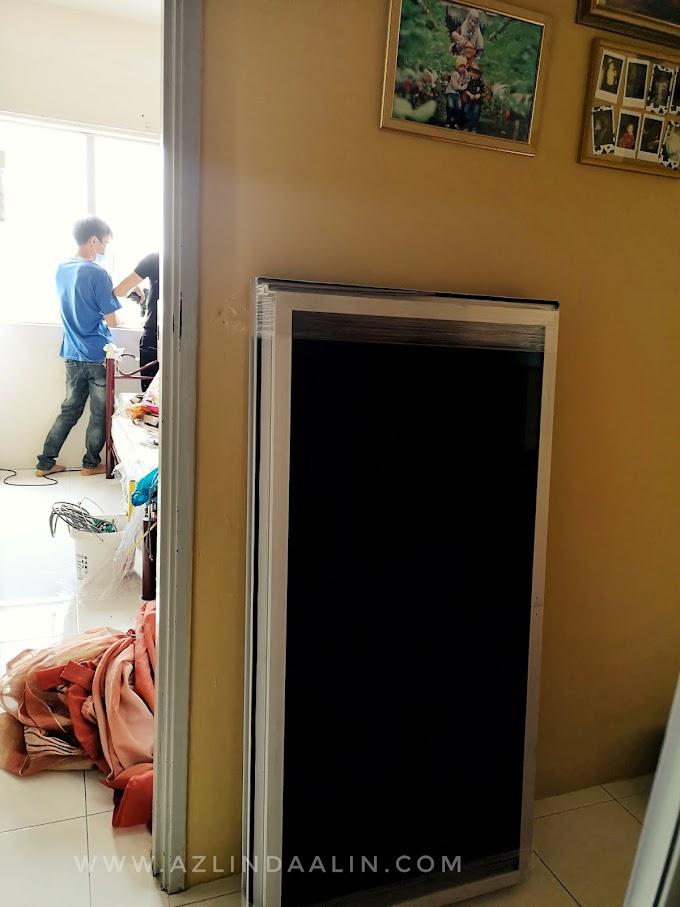 Part 4 : Projek Ubah Suai dan Repair Pasang Cermin Tingkap, Cermin Pintu Baru