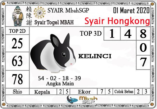 Prediksi Togel JP Hongkong Minggu 01 Maret 2020 - Syair Mbah SGP