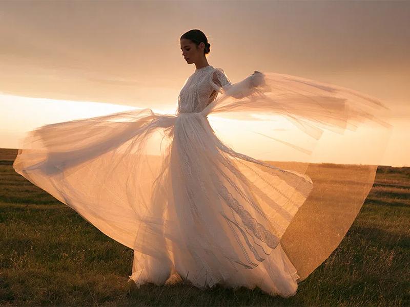 Эстетика бохо шик свадебное платье