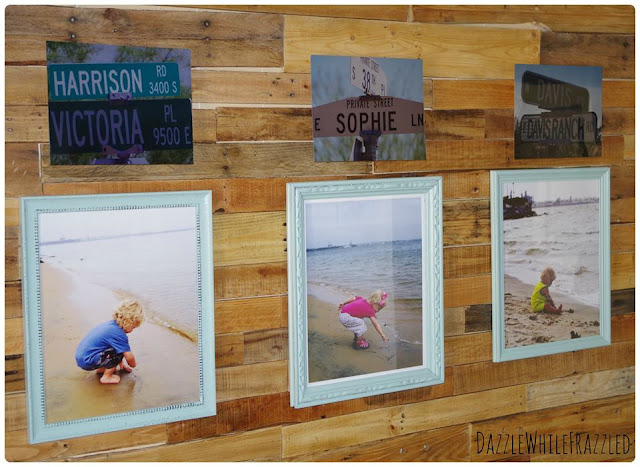 pallet wall photo display