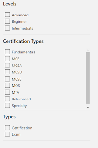 Azure Level, Certification types and Types of the certification