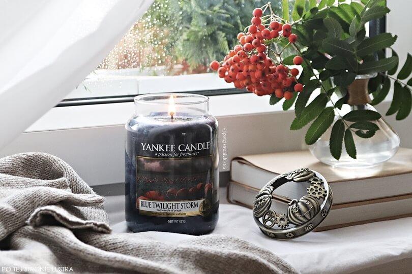 nowość yankee candle blue twilight storm jesień 2018