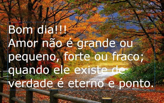 Frases De Bom Dia Frases De Bom Dia Amor Nao E Grande