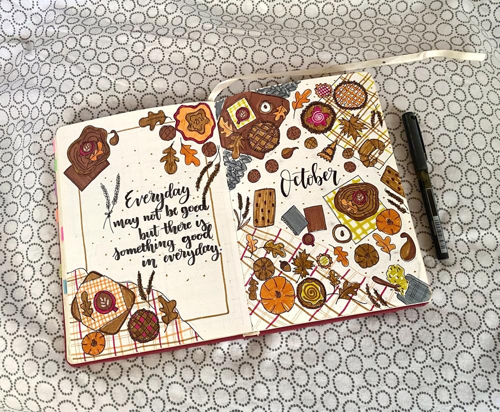 My October 2020 Journal Spread - Renee Alexis