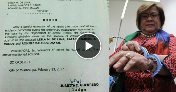 BREAKING: Muntinlupa court issues warrant of arrest against De Lima, Must Watch!