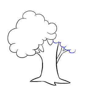 رسم شجرة للاطفال تعليم الرسم للاطفال خطوة بخطوة صور شجرة كرتونية