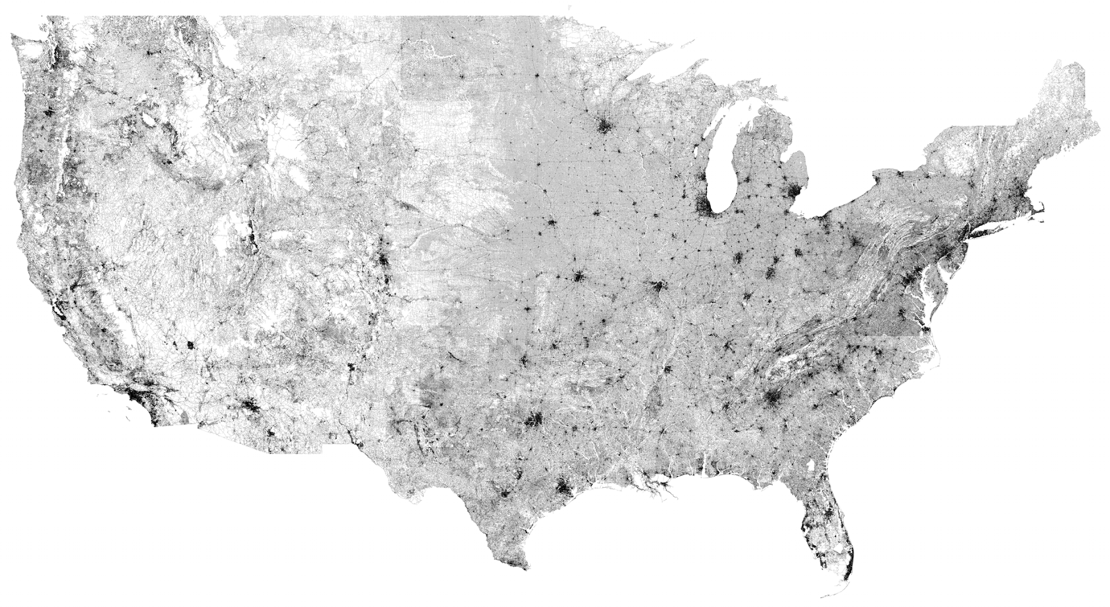 Every single road in the U.S.