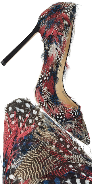 Jimmy Choo Romy feather embellished suede pumps #brilliantluxury
