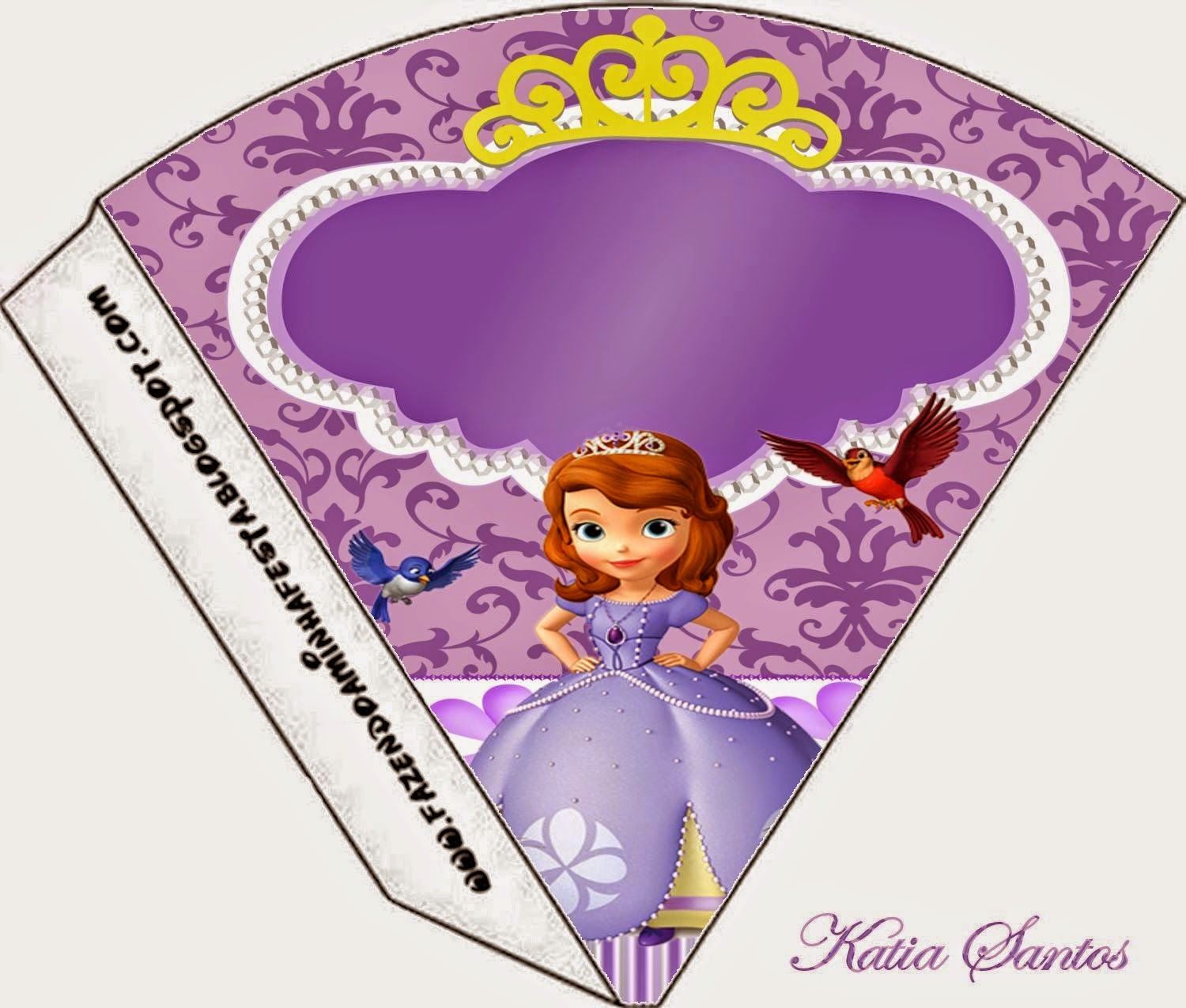 sweet sofia the first free printable cones