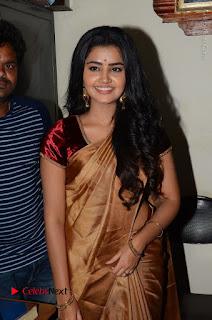 Actress Anupama Parameswaran Stills in Silk Saree with Shatamanam Bhavati Team at Sandhya Theater  0031.JPG