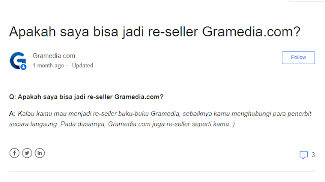 Laman help.gramedia.com - Apakah saya bisa jadi re-seller Gramedia.com?