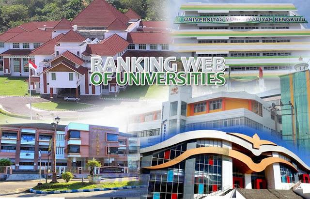 Daftar Universitas Terbaik di Bengkulu Tahun 2021 versi Webometrics