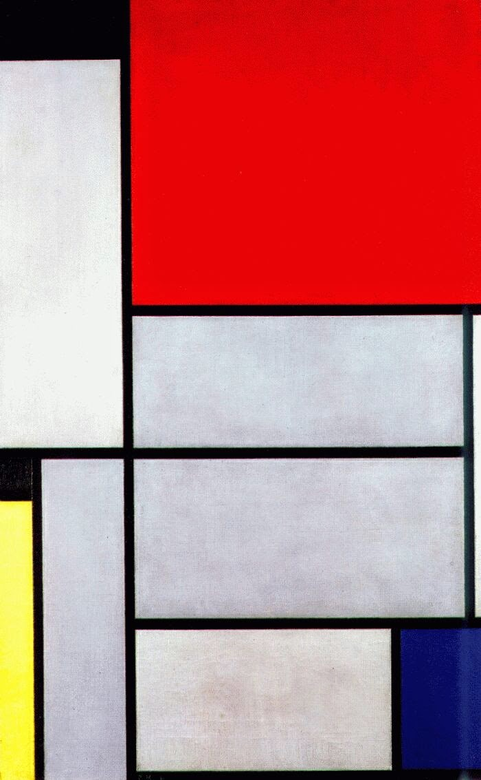 Tabela l - Piet Mondrian e Suas Pinturas | Criador do Neoplasticismo