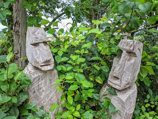 See if you can spot the carvings in the hedgerow