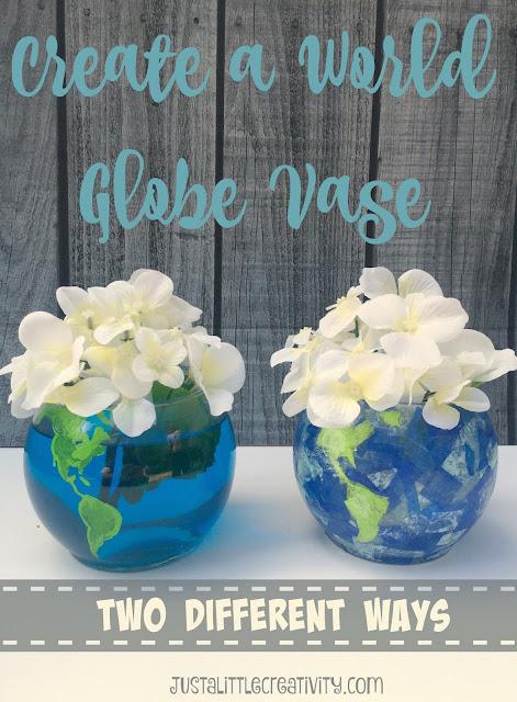 make your own globe vase